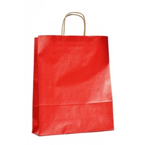 Bolsas de papel kraft natural rojas grandes